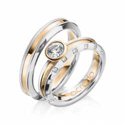 wedding band ring gold 18kring 1 3875 ring 2 1385 - Creative Wedding Rings