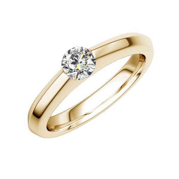Solitaire Roségold 585  Pseudospann, Zungenschienemit 0,3 ct. tw, vs Eternal Touch