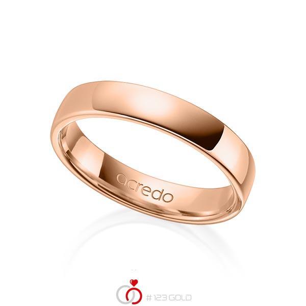 klassischer Trauring/Ehering in Rotgold 750 von acredo - A-1281-10