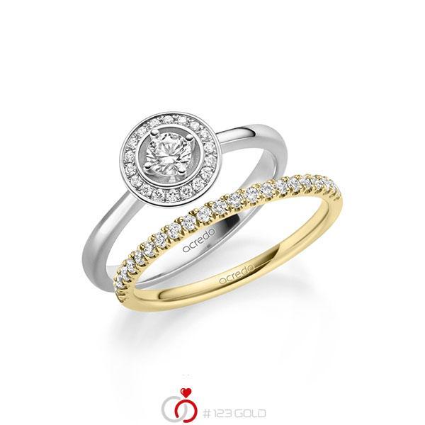 Ring-Set in witgoud 14 kt. met in totaal 0,51 ct. Briljant tw/si van acredo - A-2158-5