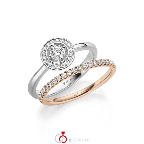Ring-Set in witgoud 14 kt. met in totaal 0,51 ct. Briljant tw/si van acredo - A-2158-6