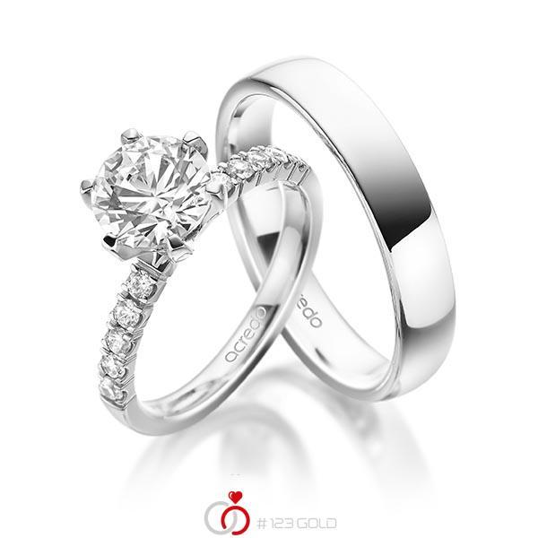Verlobungsring Diamantring 2 Ct Tw Vs Tw Si Weissgold 585 A