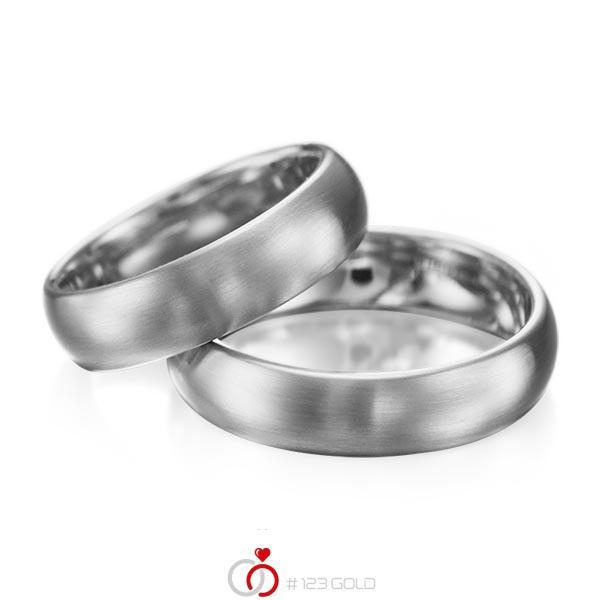 Set klassieke trouwringen in dark grey gold 14 kt. van acredo - A-1077-7