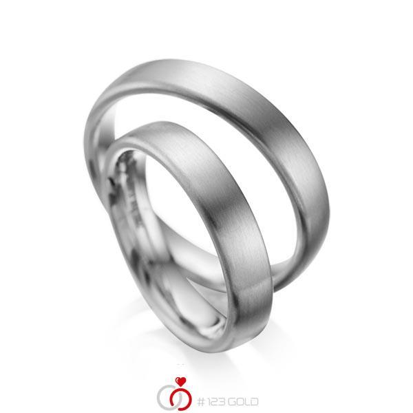Set klassieke trouwringen in dark grey gold 14 kt. van acredo - A-1081-5