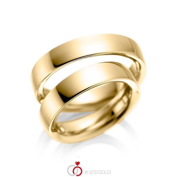 Set klassieke trouwringen in geelgoud 14 kt. van acredo - A-1078-5