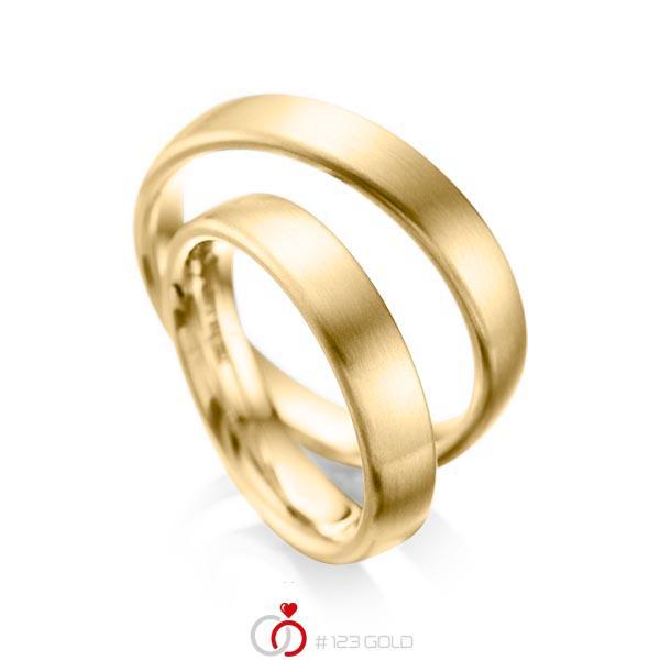 Set klassieke trouwringen in geelgoud 14 kt. van acredo - A-1081-1