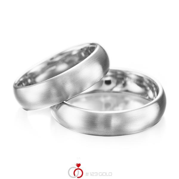 Set klassieke trouwringen in palladium 950 van acredo - A-1077-2