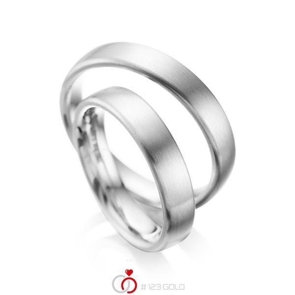 Set klassieke trouwringen in palladium 950 van acredo - A-1081-2
