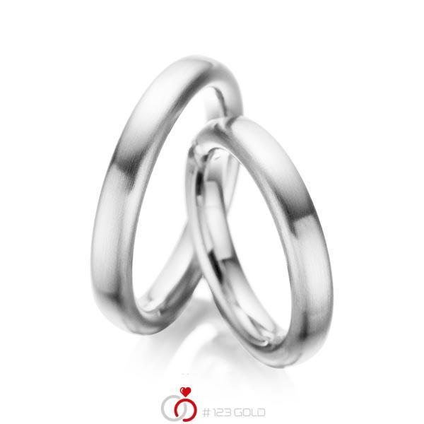 Set klassieke trouwringen in palladium 950 van acredo - A-1082-2
