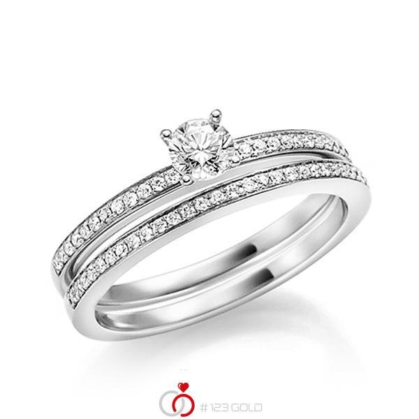 Verlobungsring Diamantring 0 17 Ct Tw Vs Weissgold 750 Q 1428 1