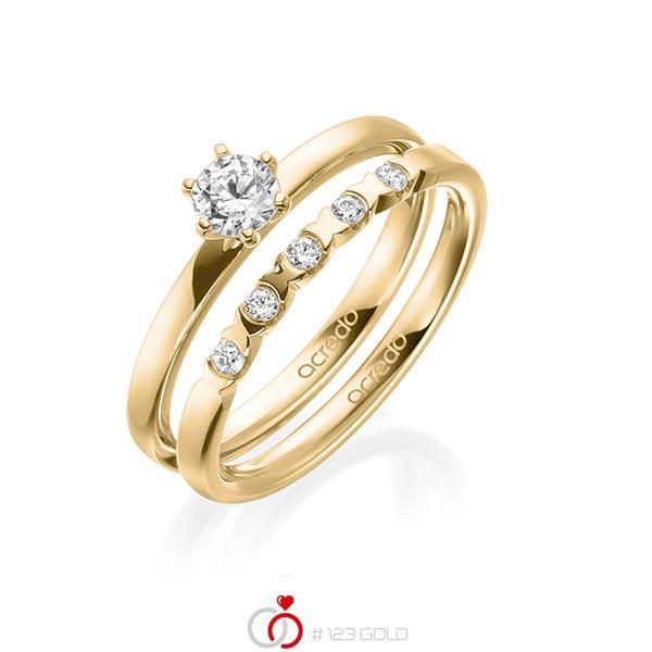 Verlobungsring Diamantring 0 3 Ct Tw Vs Gelbgold 585 A 1998 1