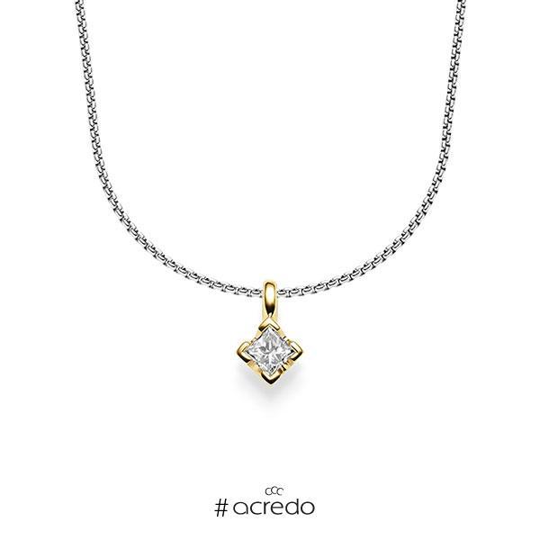 Anhänger in Gelbgold 585 mit zus. 0,25 ct. Prinzess-Diamant tw, si von acredo