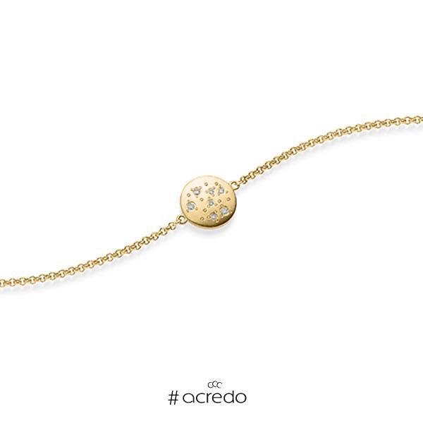 Armband mit Anhänger in Gelbgold 585 mit zus. 0,05 ct. tw, si von acredo