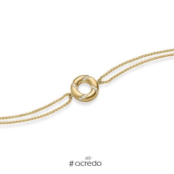 Armband mit Anhänger in Gelbgold 585 mit zus. 0,06 ct. tw, si von acredo