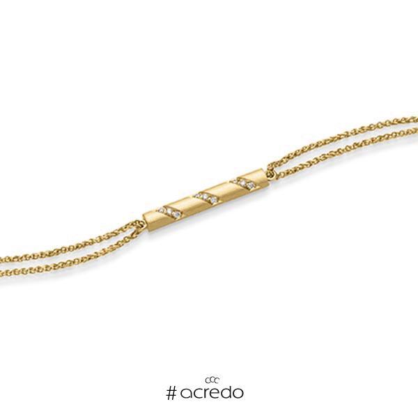 Armband mit Anhänger in Gelbgold 585 mit zus. 0,09 ct. tw, si von acredo