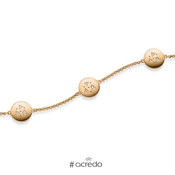 Armband mit Anhänger in Roségold 585 mit zus. 0,09 ct. tw, si von acredo