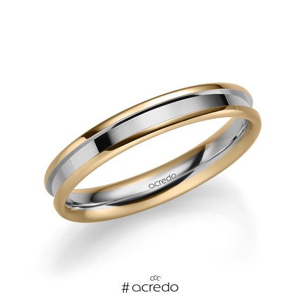 bicolor Trauring/Ehering in Roségold 585 Graugold 585 von acredo