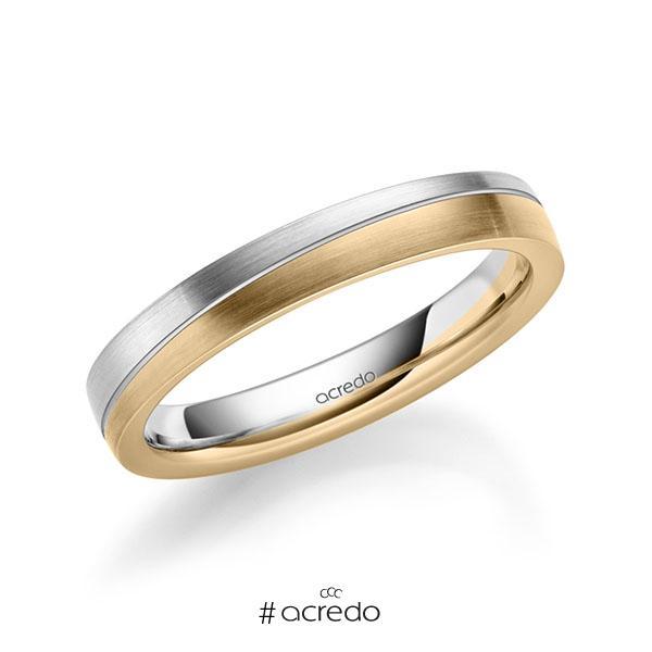bicolor Trauring/Ehering in Weißgold 585 Roségold 585 von acredo