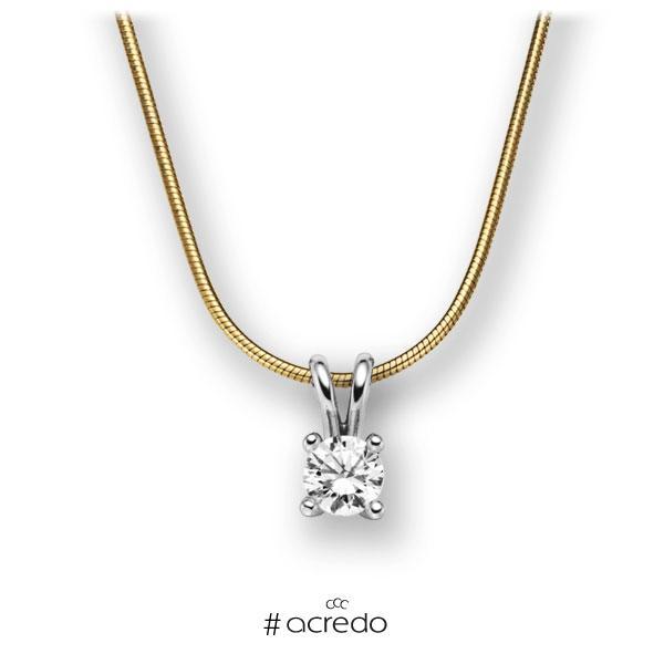 Diamant-Collier Gelbgold 585 Weißgold 585 mit 0,5 ct. G VS