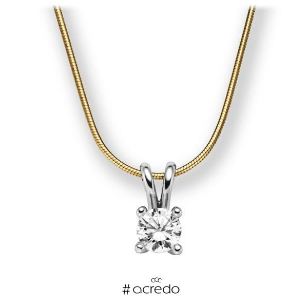 Diamant-Collier Gelbgold 585 Weißgold 585 mit 0,7 ct. G VS