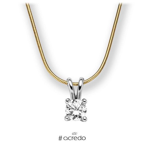 Diamant-Collier Gelbgold 585 Weißgold 585 mit 1 ct. G VS