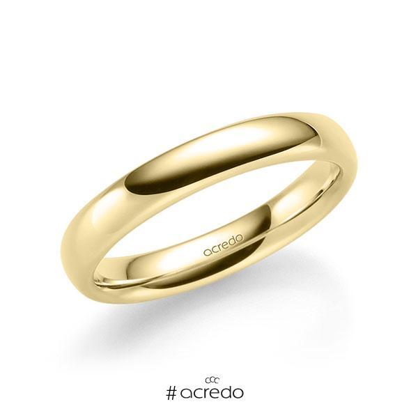 klassischer Trauring/Ehering in Gelbgold 585 von acredo