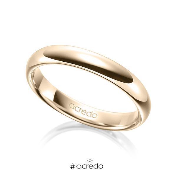 klassischer Trauring/Ehering in Signature Gold 585 von acredo