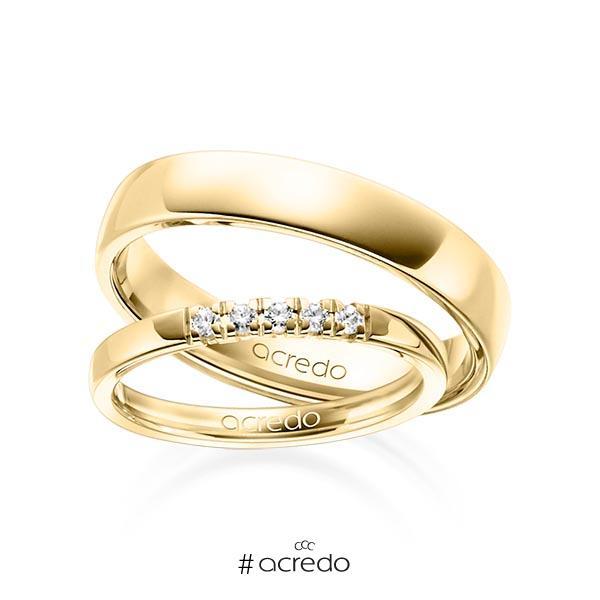 Memoire-Ring Gelbgold 585 mit 0,1 ct. tw, vs