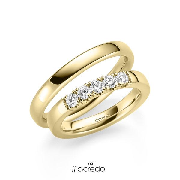 Memoire-Ring Gelbgold 585 mit 0,5 ct. tw, si