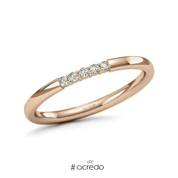 Memoire-Ring Roségold 585 mit 0,075 ct. tw, si