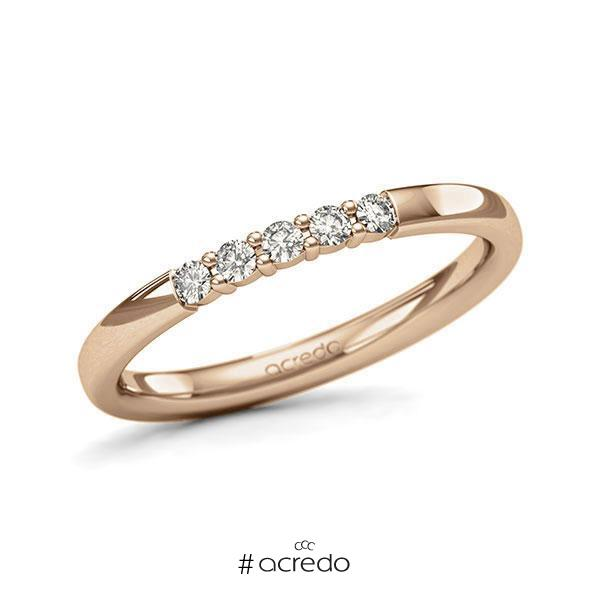 Memoire-Ring Roségold 585 mit 0,15 ct. tw, si