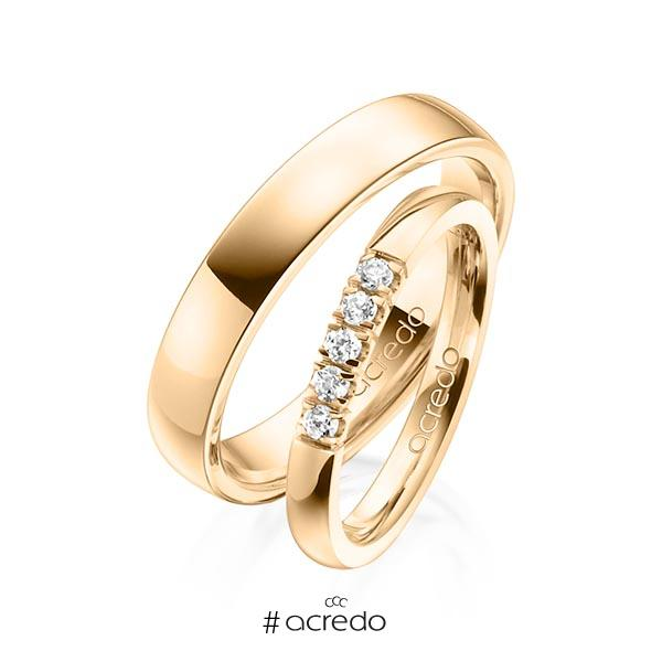 Memoire-Ring Roségold 585 mit 0,15 ct. tw, vs