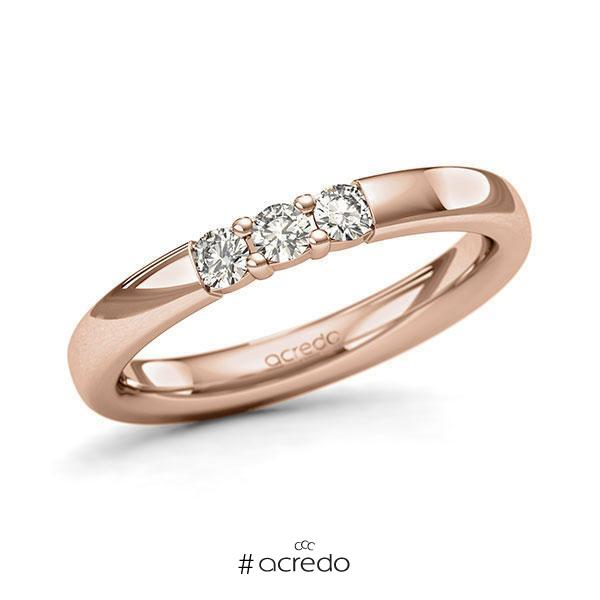 Memoire-Ring Rotgold 585 mit 0,21 ct. tw, si