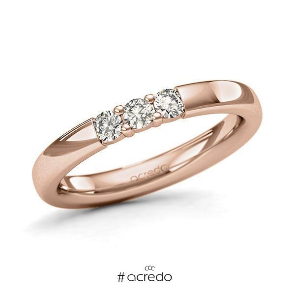 Memoire-Ring Rotgold 585 mit 0,24 ct. tw, si