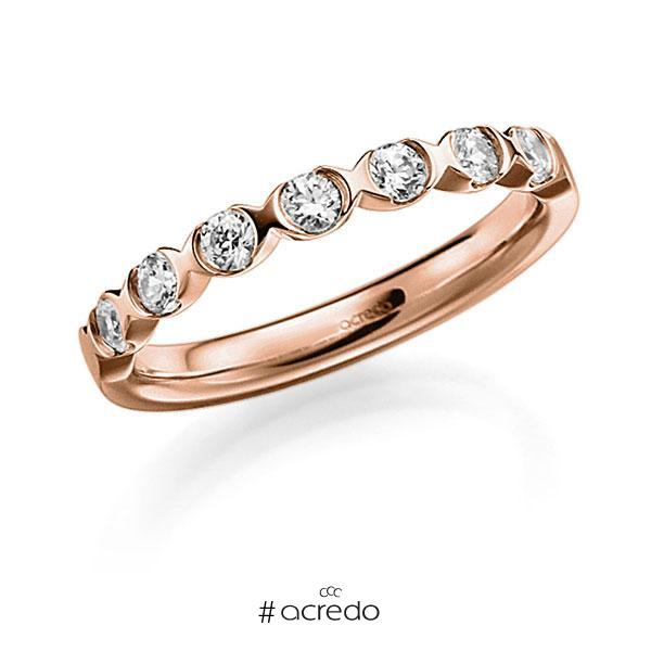 Memoire-Ring Rotgold 585 mit 0,42 ct. tw, vs