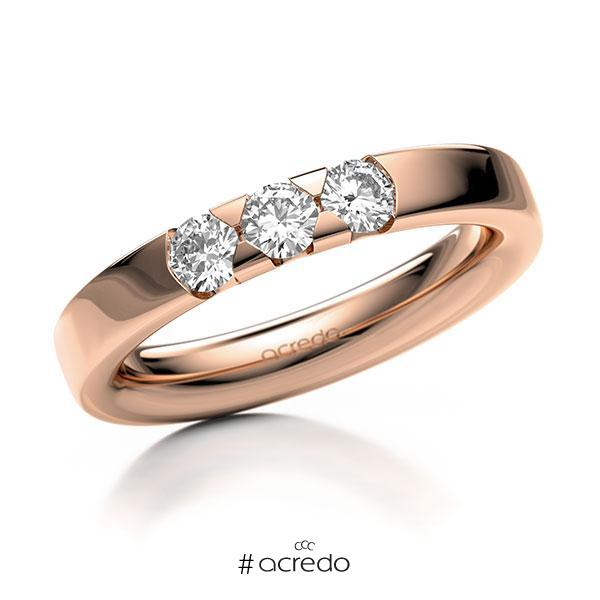 Memoire-Ring Rotgold 585 mit 0,45 ct. tw, si