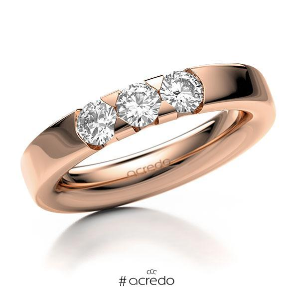 Memoire-Ring Rotgold 585 mit 0,75 ct. tw, si
