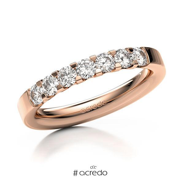 Memoire-Ring Rotgold 585 mit 0,7 ct. tw, vs