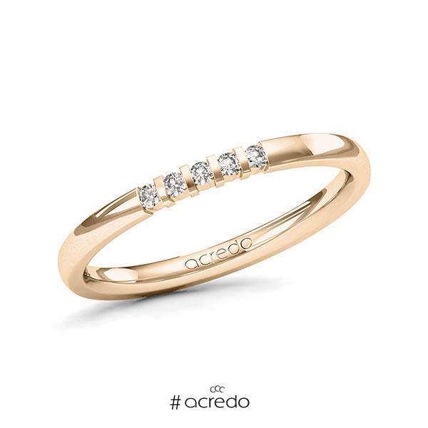Memoire-Ring Signature Gold 585 mit 0,075 ct. tw, vs