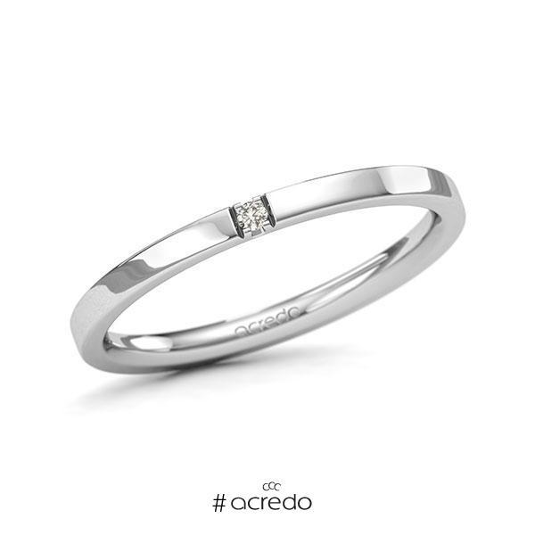 Memoire-Ring Weißgold 585 mit 0,015 ct. tw, si