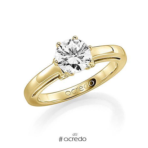 Verlobungsring Diamantring 1 ct. G SI & tw, si Gelbgold 585