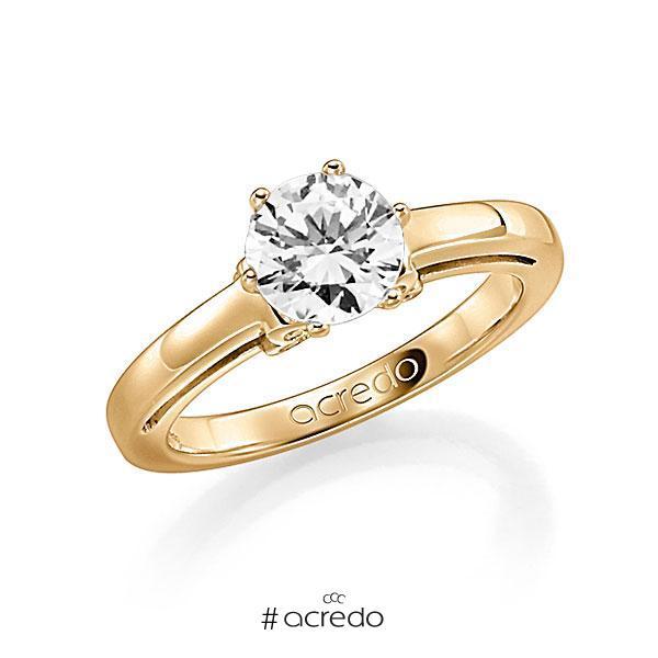 Verlobungsring Diamantring 1 ct. G SI & tw, si Roségold 585