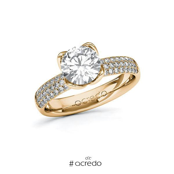 Verlobungsring Diamantring 1,932 ct. G VS & tw, si Roségold 585