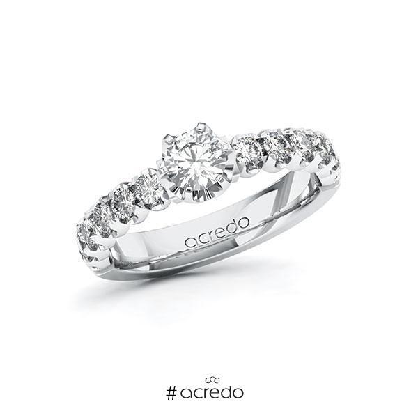 Verlobungsring Diamantring 1 ct. G SI & tw, si Weißgold 585