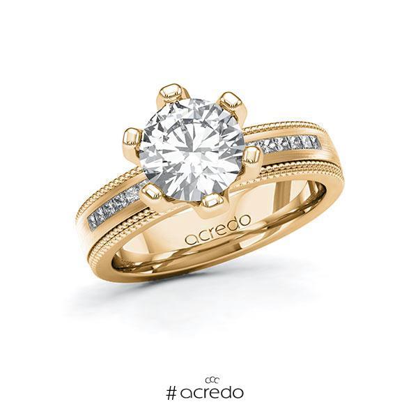 Verlobungsring Diamantring 2,42 ct. G VS & tw, si Roségold 585