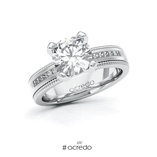 Verlobungsring Diamantring 2,42 ct. G VS & tw, si Weißgold 585