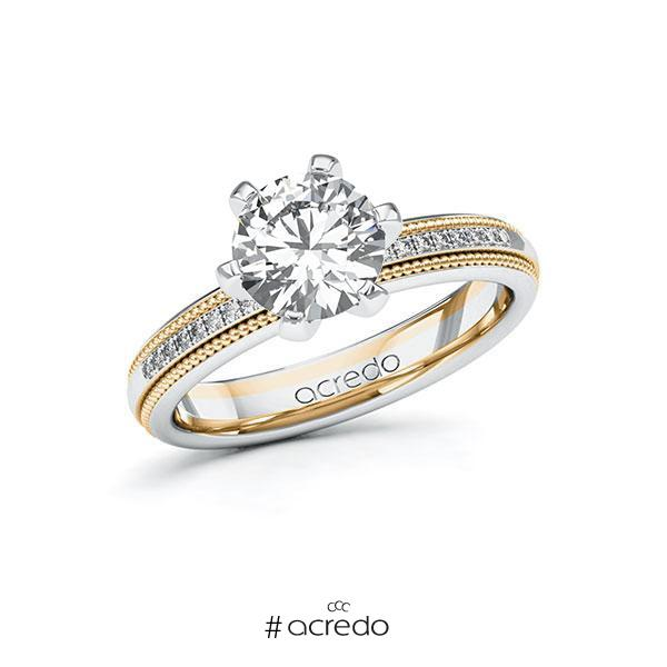 Verlobungsring Diamantring 1,59ct. G SI & tw, si Weißgold 585 Roségold 585