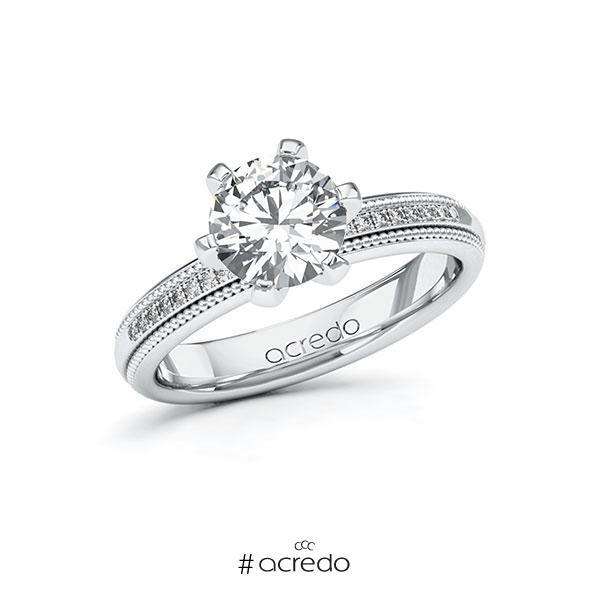 Verlobungsring Diamantring 1,59 ct. G SI & tw, si Weißgold 585
