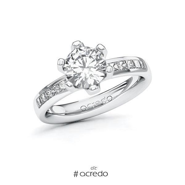 Verlobungsring Diamantring 1,8 ct. G VS & tw, si Weißgold 585