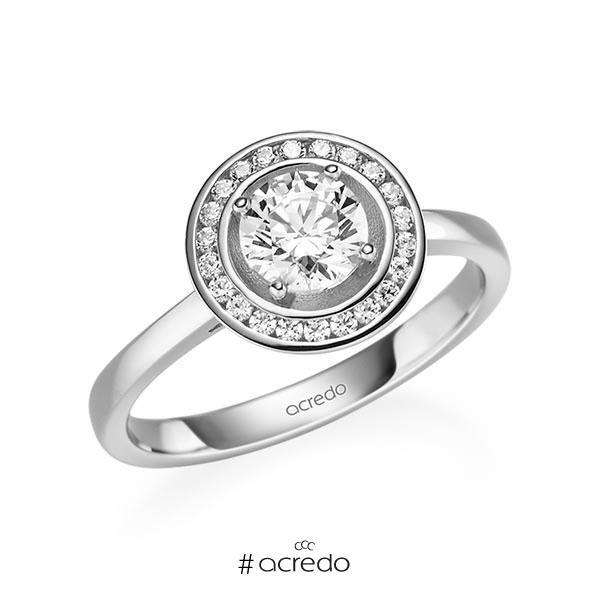 Verlobungsring Diamantring 0,876 ct. G SI & tw, si Weißgold 585